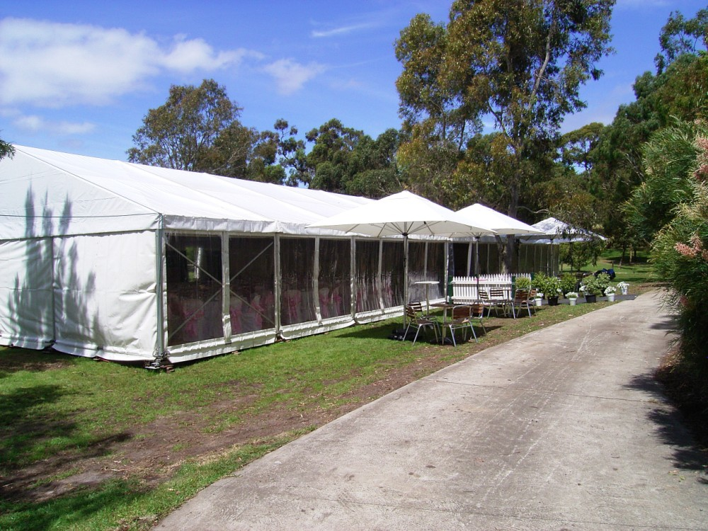 Party Tent - Clear Walls 10x30m