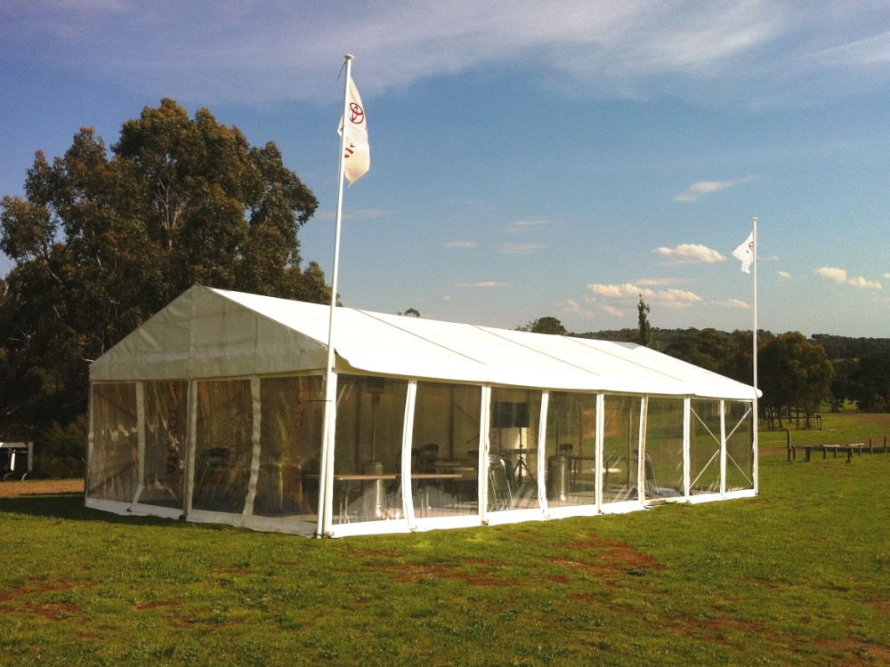 Party Tent - Clear Walls 6x12m