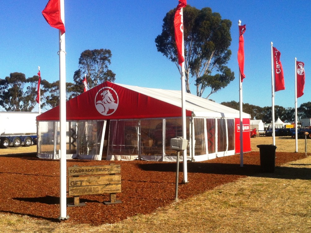 Party Tent - Custom Printed Gable 10x9m